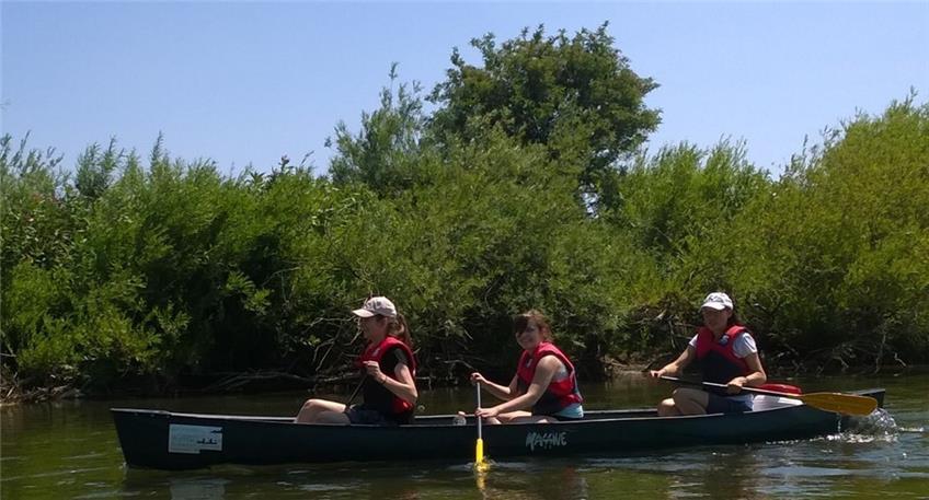 Junge Rettungsschwimmer machen Kanuausfahrt