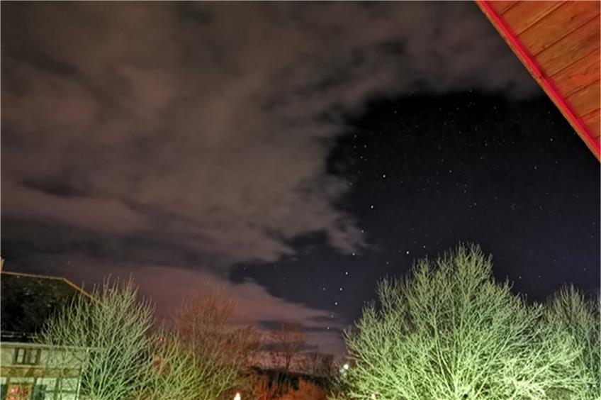 Himmelserscheinung Lichterkette