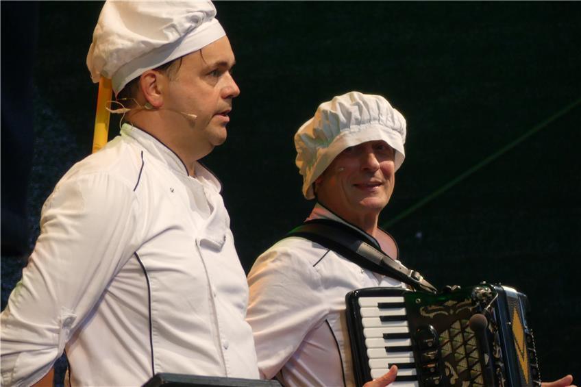 Die Lautlinger Event-Wiese startet mit einem deftigen Gaisburger Marsch